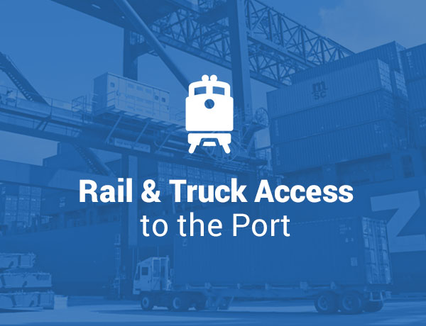 Rail and Truck Access to the Port