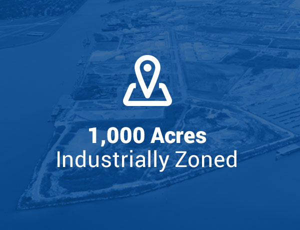 1000 Acres Industrially Zoned