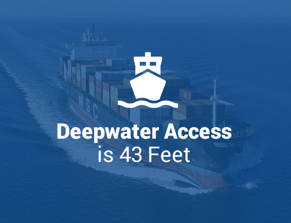 Deepwater Access is 43 Feet